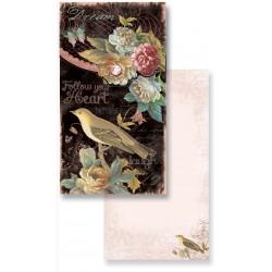 Carnet  de Notes Long 'Joyful Bird Garden'