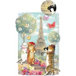 Carte Double GM 3D & ENV. 'Kitty Paris'