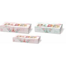 Set 3 boîtes plumiers 'Paris Collage'
