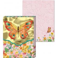 Pocket Carnet Notes 'Orange Butterfly'