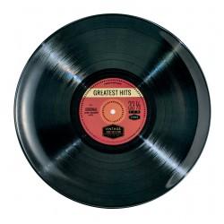 Assiette plate mélamine Vintage 'Record'