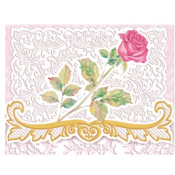 Pochette Correspondance 'Red Rose'