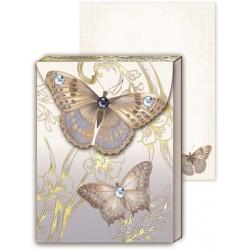 Pocket carnet de notes 'Beige butterfly'