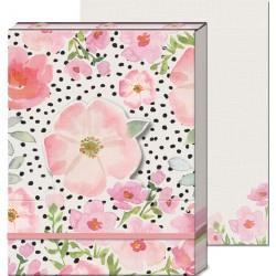 Pocket carnet de notes 'Flowers pink'