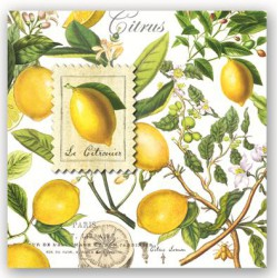 Serviettes Cocktail 'Lemon Basil'