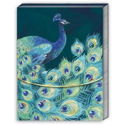 Pocket carnet de notes (One Peacock) 'Emerald Peacock'