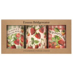 Set 3 boîtes rondes hautes 'Emma Bridgewater Strawberries'