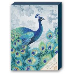 Pochette correspondance 'Emerald Peacock'