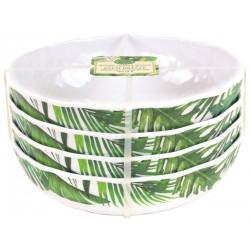 Set de 4 assiettes creuses 'Palm Breeze'