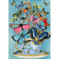 Carte double GM & env. 'WHIMSICAL' (butterflies)