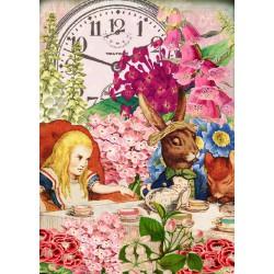 Carte double GM & env. 'ALICE' (tea time)