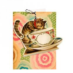 Carte double GM & env. 'FANDANGLES' (cat)