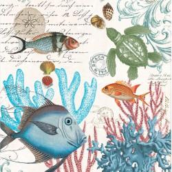Serviettes Cocktail 'Sea Life'