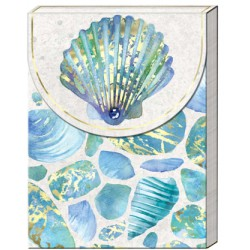 Pocket carnet de notes 'High Tide' (blue shells)