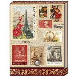 Pocket carnet de notes 'Parisian Stamps'