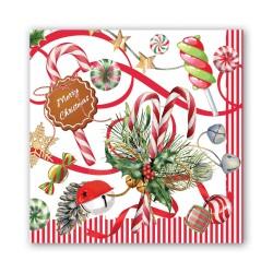 Serviettes en papier carrées 'Peppermint'