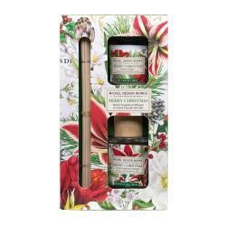 Set cadeau diffuseur et mini bougie parfumée 'Merry Christmas'