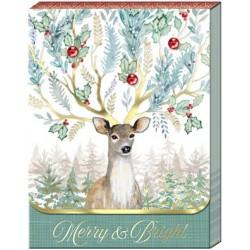 Pocket Carnet Notes 'Merry Bright Deer'