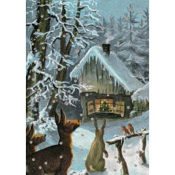 Carte double GM & env. 'WINTER FOREST'