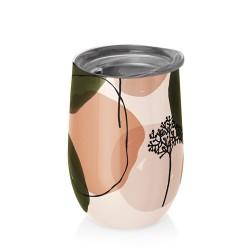 Mug bureau 420 ml (olive et peach) ' BIOLOCO OFFICE '