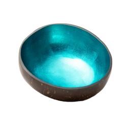 Bol décoratif en noix de coco (shiny petrol) ' CHIC MIC '