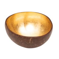 Bol décoratif en noix de coco Gold CHIC MIC