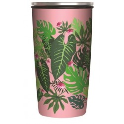 Mug de voyage isotherme Slide Cup 420 ml Pink Jungle