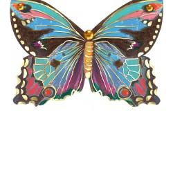 Carte double petit modèle 3D et enveloppe - Blue Butterfly