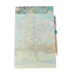Bloc shopping magnétique et crayon à papier - Van Gogh