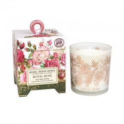Bougie Parfumée 184 g et boîte cadeau - Royal Rose