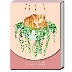 Pocket carnet de notes aimanté - Houseplant Tabby