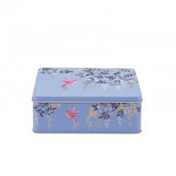 Boîte rectangulaire en métal - Bue Birds - Sara Miller London