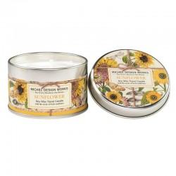 Bougie parfumée 113g en boîte métal - Sunflower