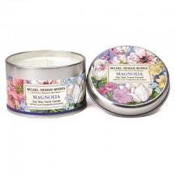 Bougie parfumée 113g en boîte métal - Magnolia