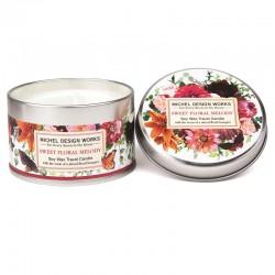 Bougie parfumée 113g en boîte métal - Sweet Floral Melody