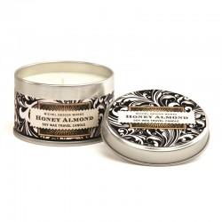 Bougie parfumée 113g en boîte métal - Honey Almond