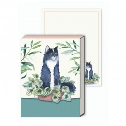 Pocket carnet de notes aimanté - Houseplant Black Cat