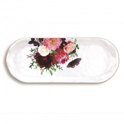 Plat long rectangulaire en mélamine - Sweet Floral Melody