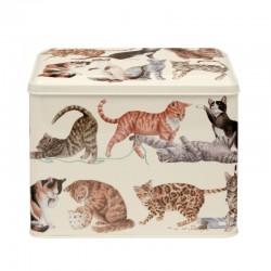 Boîte rectangulaire MM en métal - Emma Bridgewater Cats
