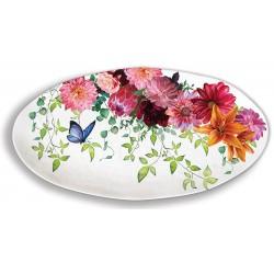 Plat ovale en mélamine - Sweet Floral Melody
