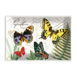 Coupelle rectangulaire en verre - Papillon
