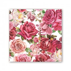 Pochette de 20 serviettes cocktail - Royal Rose