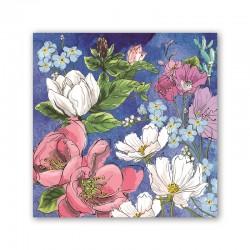 Pochette de 20 serviettes carrées - Magnolia