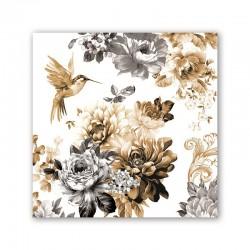 Pochette de 20 serviettes carrées - Gardenia