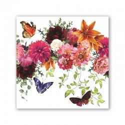 Pochette de 20 serviettes carrées - Sweet Floral Melody