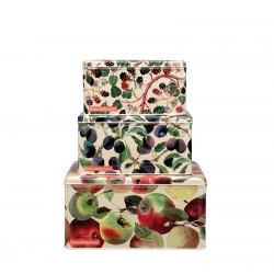 Set de 3 boîtes carrées GM en métal - Emma Bridgewater Fruit