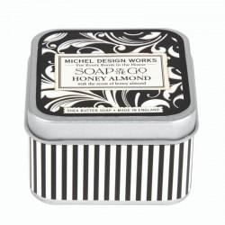 Savon voyage 68g dans boîte métal - Honey Almond