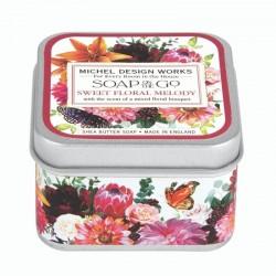 Savon voyage 68g dans boîte métal - Sweet Floral Melody