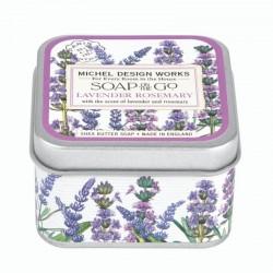 Savon voyage 68g dans boîte métal - Lavender Rosemary