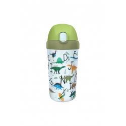 Gourde enfant avec paille 400ml Dinosaurs - Bioloco Plant Kids Cup